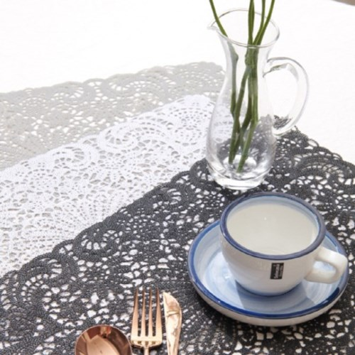 PVC 레이스 테이블매트 식탁매트 테이블러너 (3color)