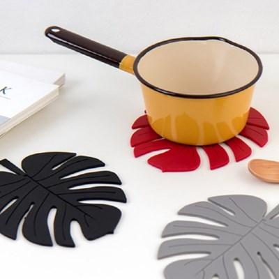 실리콘 냄비받침 몬스테라 나뭇잎 주방용품 소품 (5color)