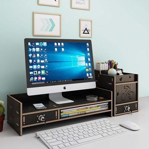 PH DIY 목재 모니터 선반 받침대 책상정리 수납함 Z05-S