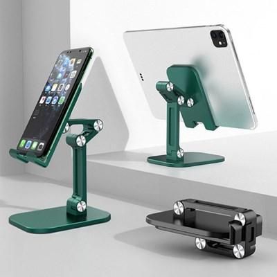 스마트폰 거치대 접이식 다각도높이조절 휴대폰 태블릿 업무주방회사