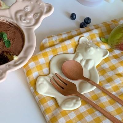 빈티지 베이비 베어 (곰돌이 미니 접시)  수저받침 & 소스(잼)그릇