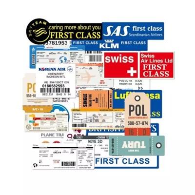 여행 항공권 티켓 스티커 팩 (15장)