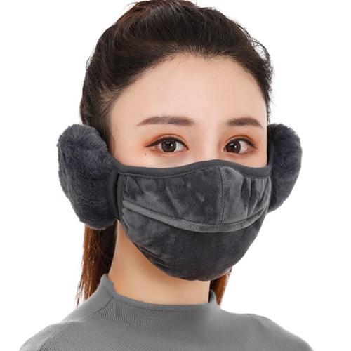 블어 남여공용 겨울 방한 얼굴보호 귀마개 마스크_(2513899)