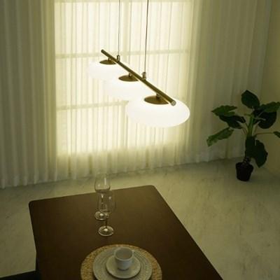 에코 3등 LED 식탁 펜던트 골드 조명 30w