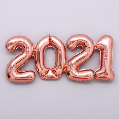 숫자은박 2021 일체형 로즈골드