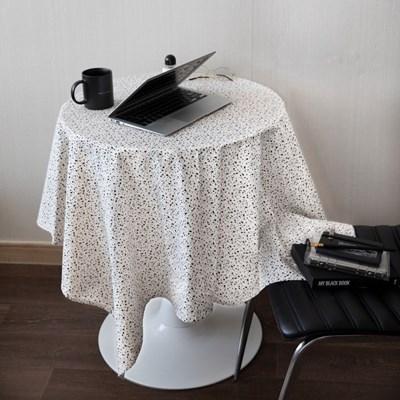 온더테라조마블아이보리 식탁보 테이블보 120x120cm 테이블러너