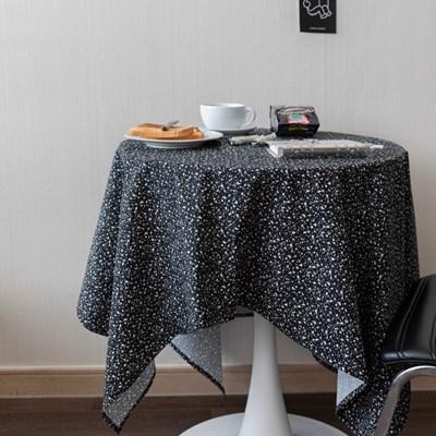 온더테라조마블블랙 식탁보 테이블보 130x130cm 테이블러너