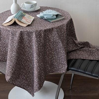 온더테라조마블브라운 식탁보 테이블보 130x130cm 테이블러너
