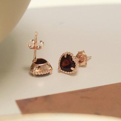가넷 트루러브 귀걸이(1월탄생석)