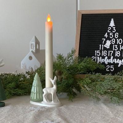 세라믹 사슴촛대 크리스마스 북유럽 캔들홀더 인테리어 오브제