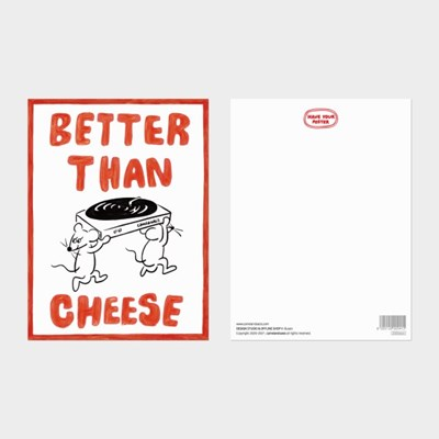 [카멜앤오아시스] Better Than Cheese 레코드 턴테이블 엽서