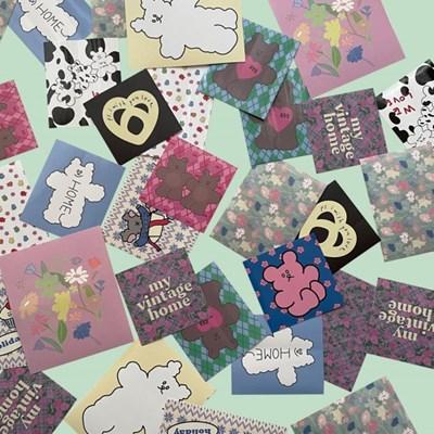 [뮤즈무드] my vintage home sticker pack