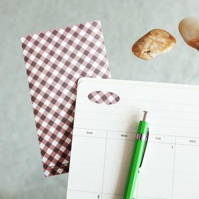 벌룬프렌즈 리무버블 패턴 스티커 - 체크