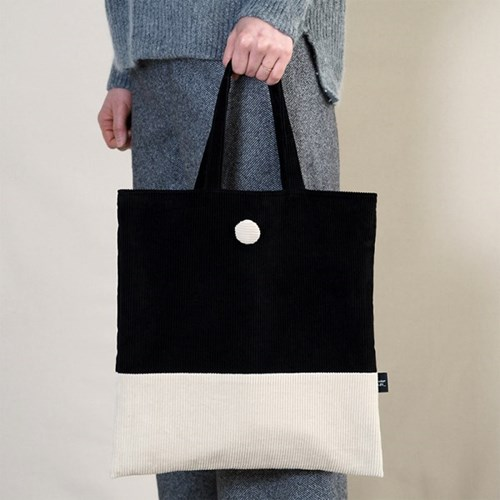 [corduroy bag] black