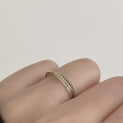(silver 92.5) 트리링 반지