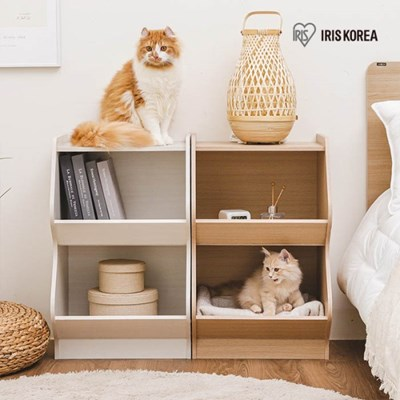 아이리스 고양이 아파트 캣타워 2단 고양이집 KSB-2S_(1872034)