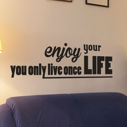 Enjoy your life yolo 감성 레터링 인테리어 스티커