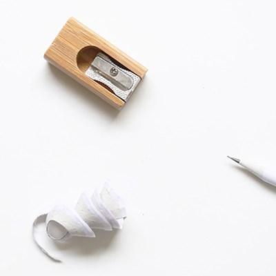휴대용 미니 대나무 연필깎이 샤프너