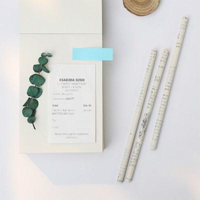 빈티지 노트패드 드로잉북 떡메모지 400매 / 친환경 재생지 메모패드