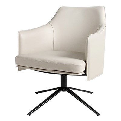 플루 천연가죽 회전 의자[SH003361]
