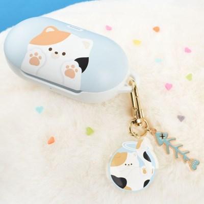 나인어클락 고양이 냥이 하드 갤럭시 버즈 플러스 케이스+냥이 키링