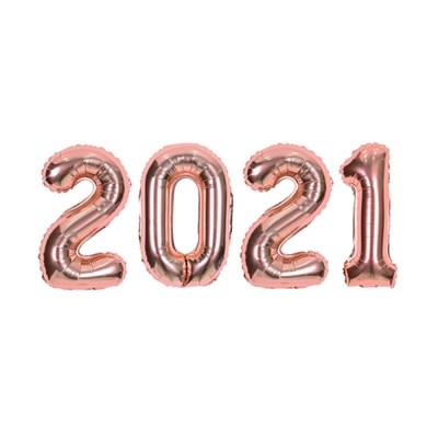 숫자은박세트 소 2021 로즈골드