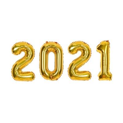 숫자은박세트 소 2021 골드