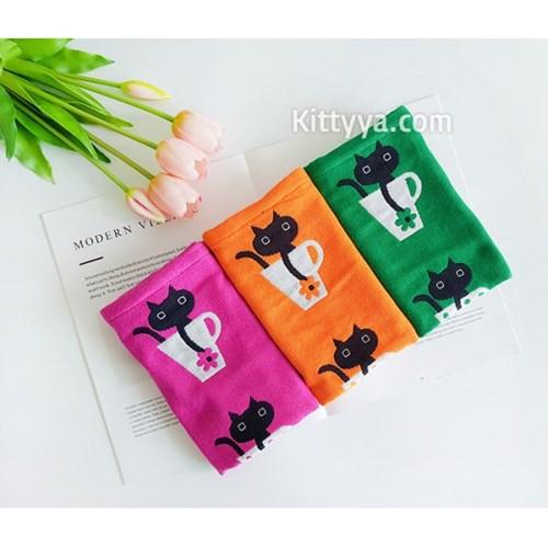 머그컵 고양이 주방수건 (3color)