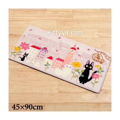 고양이 지지 PVC 롱 매트 90cm (꽃의 거리)