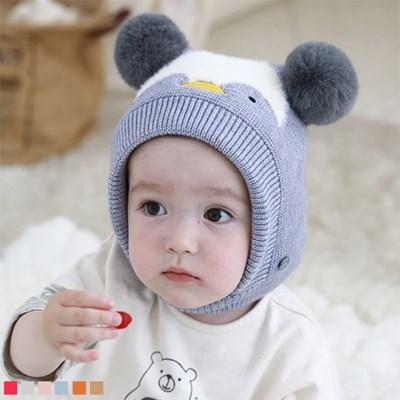 펭귄 니트 폼폼 유아 모자(원사이즈)309659