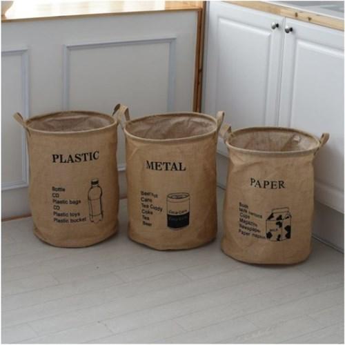 보스 빈티지 분리수거가방 재활용가방 인테리어 재활용백