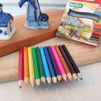 내구성 좋고 컬러가 선명한 12색 미니 색연필