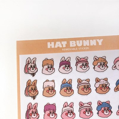 HAT BUNNY STICKER(S/M)