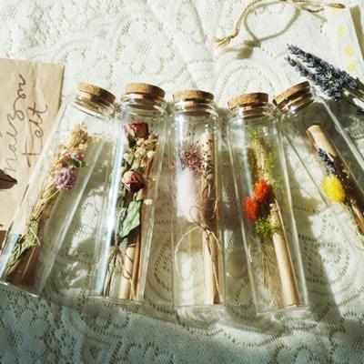 유리병 꽃 편지 시즌2 : 다섯가지꽃 편지지 기념일 생일 선물 이벤트