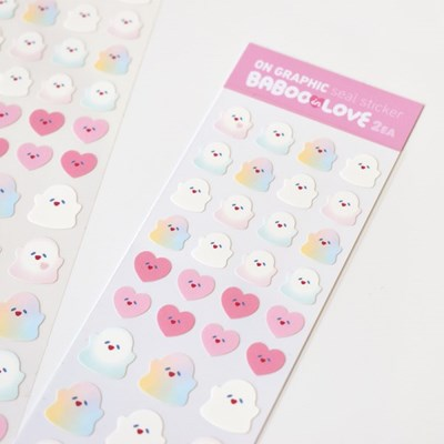 BABOO IN LOVE SEAL STICKER - MATT WATER PROOF