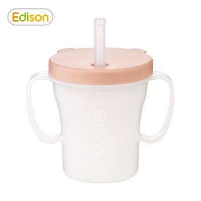 유아 아기 흘림방지 베이비 빨대컵 물컵 핑크
