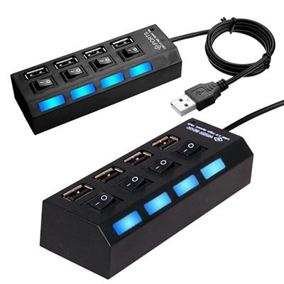 4포트 USB2.0 USB허브 on/off개별스위치 내장 선길이 1m