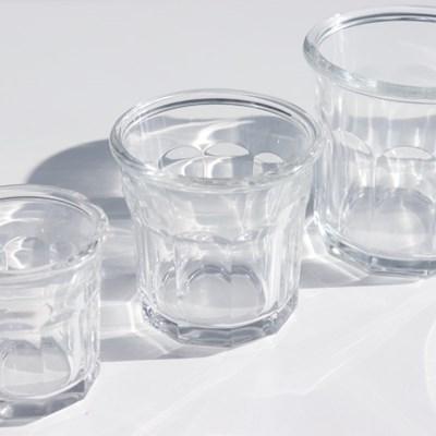 레트로 카페컵 조각 유리잔 언더락잔