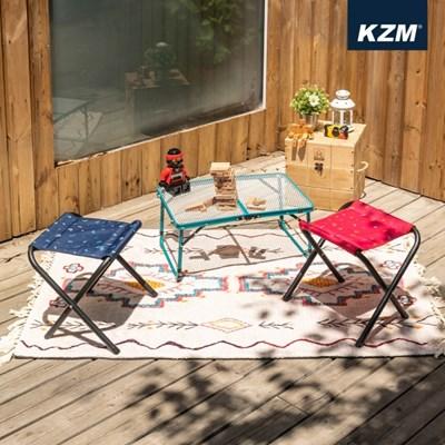 카즈미 모노그램 BBQ체어 세트 K20T1C017 / 감성 미니 캠핑의자