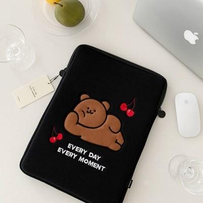뒹굴 모모베어 laptop pouch