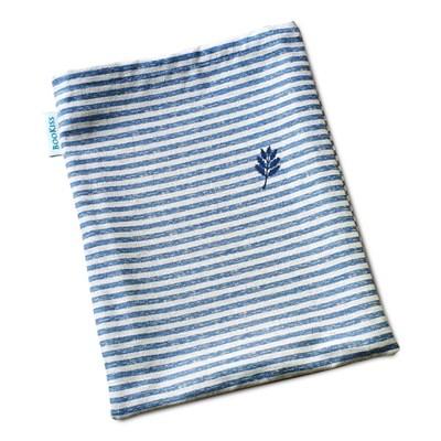 책을 품는 북파우치 파랑 줄무늬