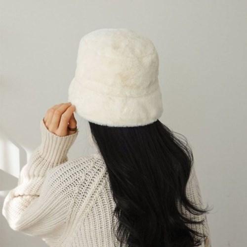 퍼 아이보리 깊은 대두 헤어캡 데일리 벙거지 모자