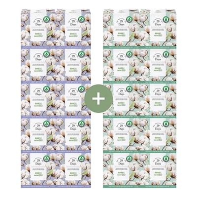 29Days 리얼 코튼 유기농 생리대 중형 10팩+대형 10팩 풀세트