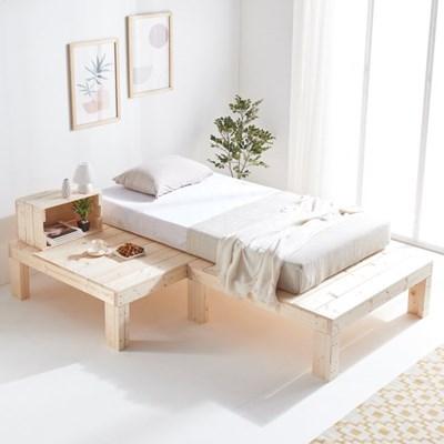 원목 조립식침대 평상 침대프레임 ㄱ자형