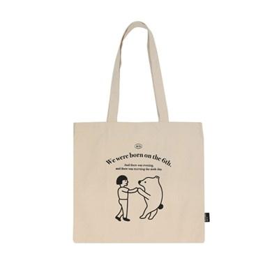 animal bag_ivory