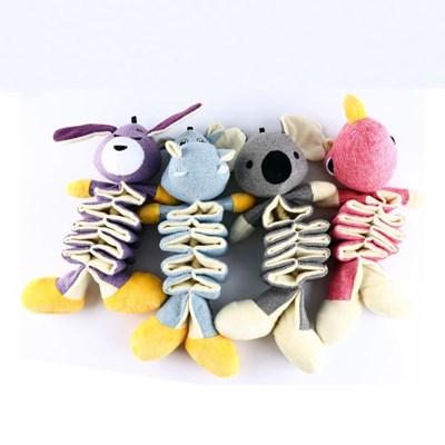 에코펫위드 강아지터그놀이 바스락인형강아지애착인형소리나는장난감