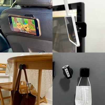 1+1 (원형+사각) 찹찹 패드 스마트폰 태블릿 거치대