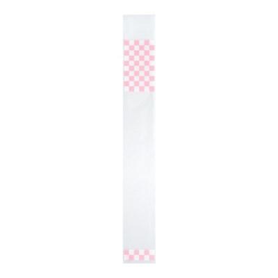 핑크체크 접착 봉투 4X25cm 15장_(1938830)