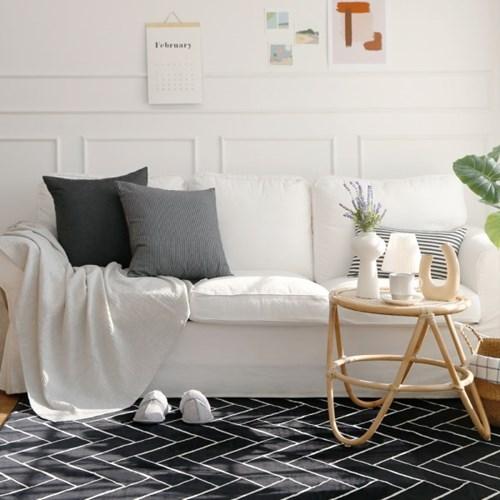 전자파없는 침대 거실 온열 전기매트_헤링본 100x180cm_(394014)