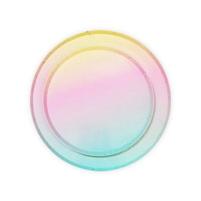 솜사탕 원형 파티 플레이트 소 (8개)
